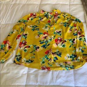 Rose olive Floral blouse sz xl